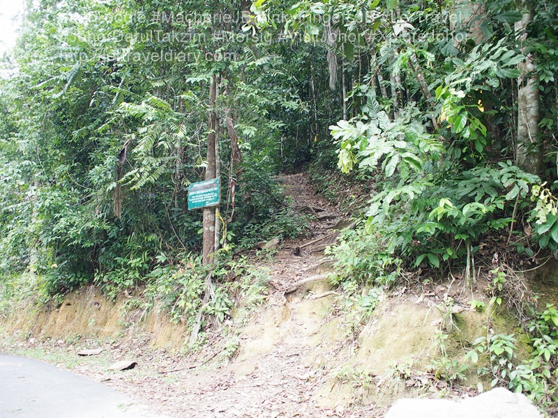 1) The Gunung Arong hiking entrance.