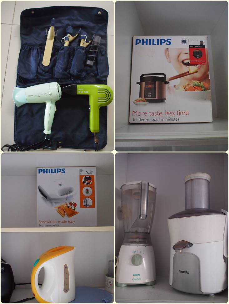 List of Philips brand electronic appliances in my house.
