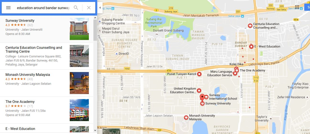 College or university around Bandar Sunway