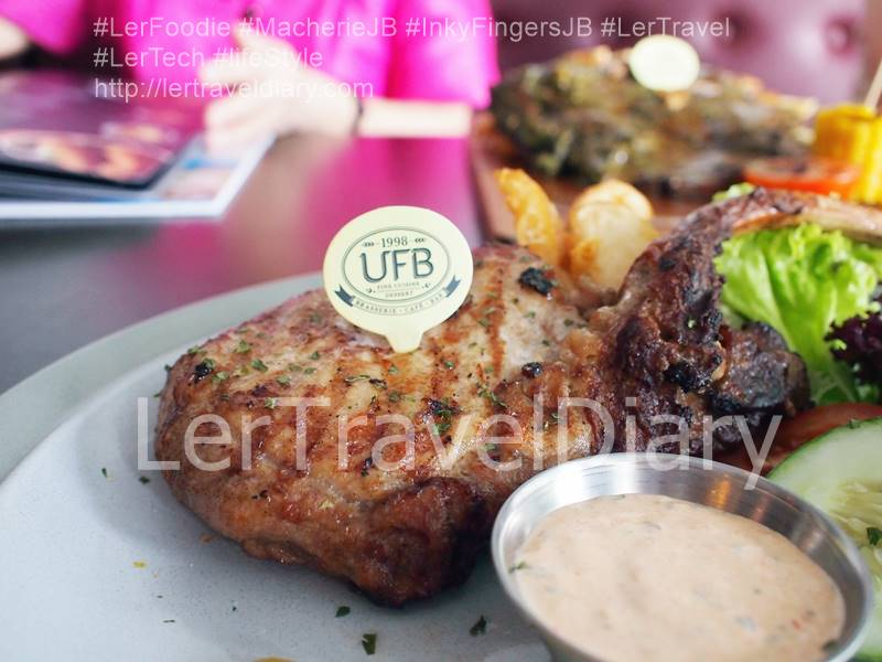 Pork Chop RM33.90. I have never tasted a pork chop as tender as chicken meat. The chef used special technique to retain the meat flavour and tenderness.