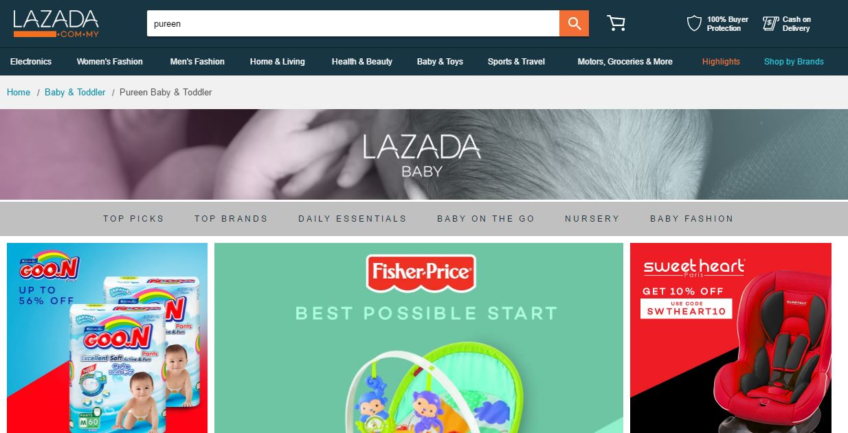 Baby Products on Lazada Malaysia