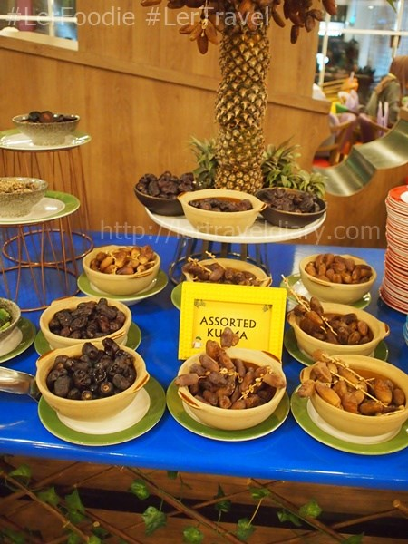 A variety of dates were served.