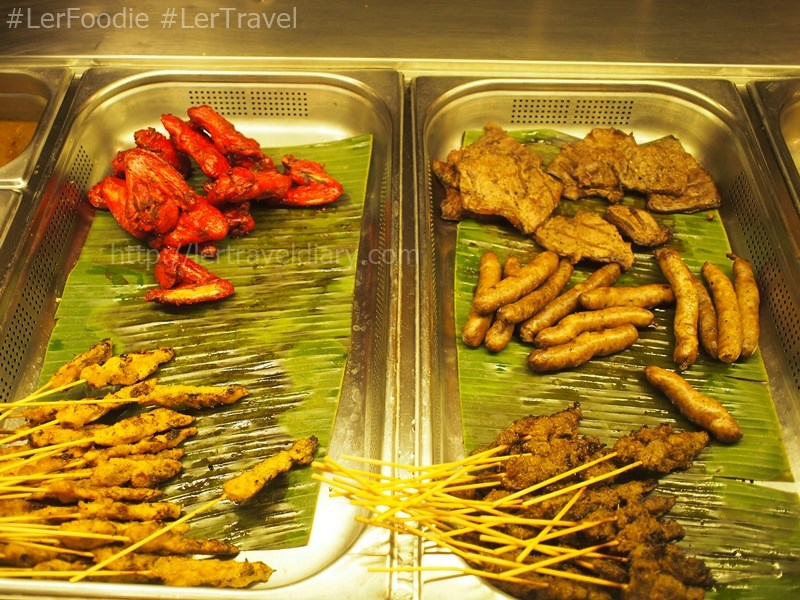 Grilled corner served the traditional Malay satay, rempah chicken wong, beef, and others.