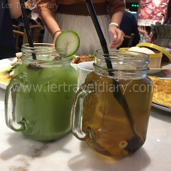 Fruit juice and herbal beverage