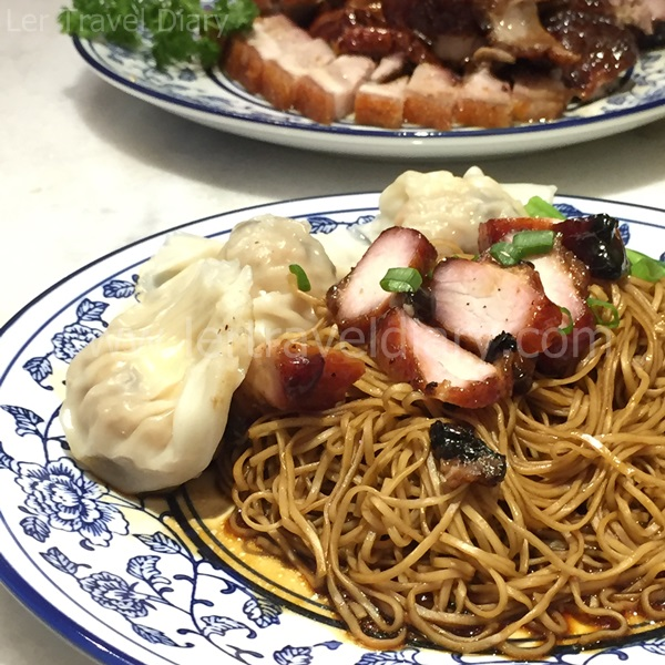 Char Siew and dumpling noodle