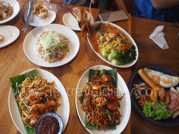 A variety of local cuisines