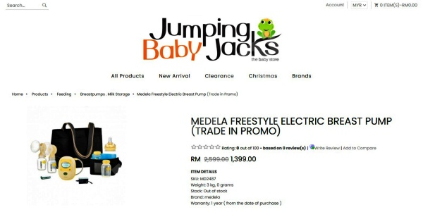 Jumping baby jacks trade in program