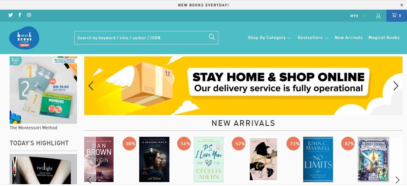BookXcess website